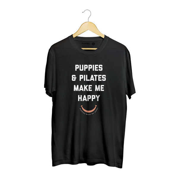 Puppies & Pilates Title | Soft Cotton Uni-Sex  Tee - Puppies Make Me Happy