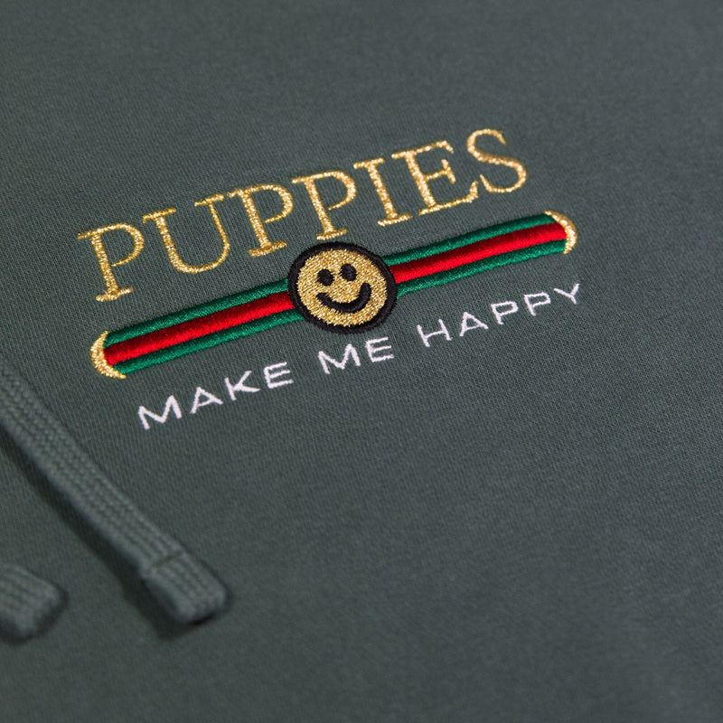 Pup Lux Embroidered | Uni-Sex Hoodie - Puppies Make Me Happy