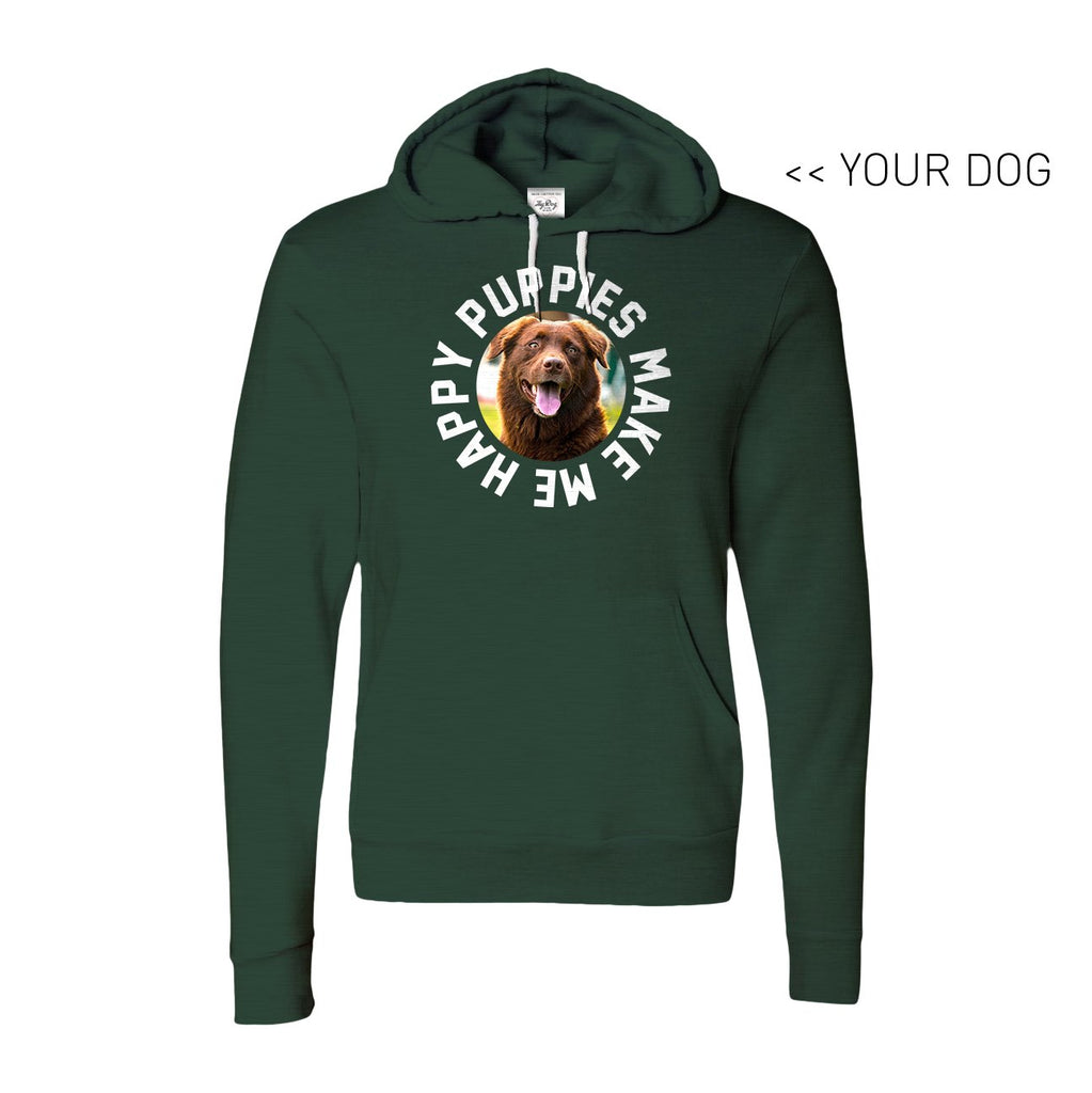 Your Dog Here - Smiley - Hoodie - Puppies Make Me Happy