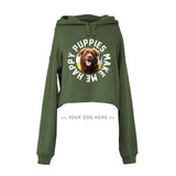 Your Dog Here - Smiley - Crop Top Hoodie - Puppies Make Me Happy