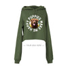 Your Dog Here - Smiley - Crop Top Hoodie