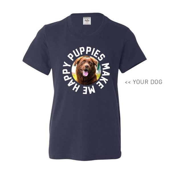 Your Dog Here - Smiley - Youth Tee - Puppies Make Me Happy