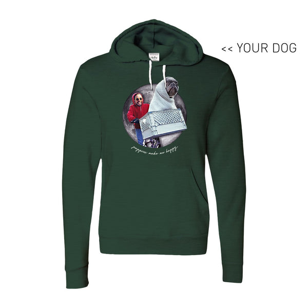 Your Dog Here - Phone Home - Hoodie - Puppies Make Me Happy