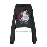 Your Dog Here - Phone Home - Crop Top Hoodie