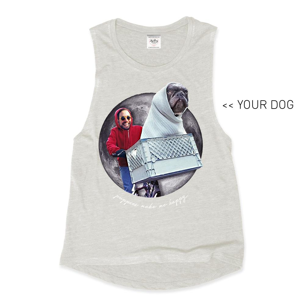 Your Dog Here - Phone Home - Muscle Tank - Puppies Make Me Happy