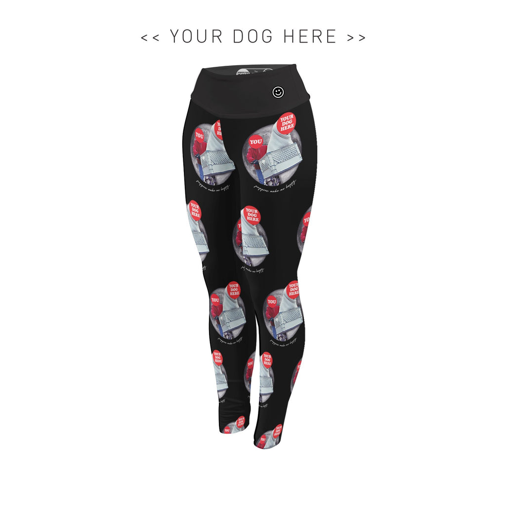 Your Dog Here - Phone Home - Adult Leggings - Puppies Make Me Happy