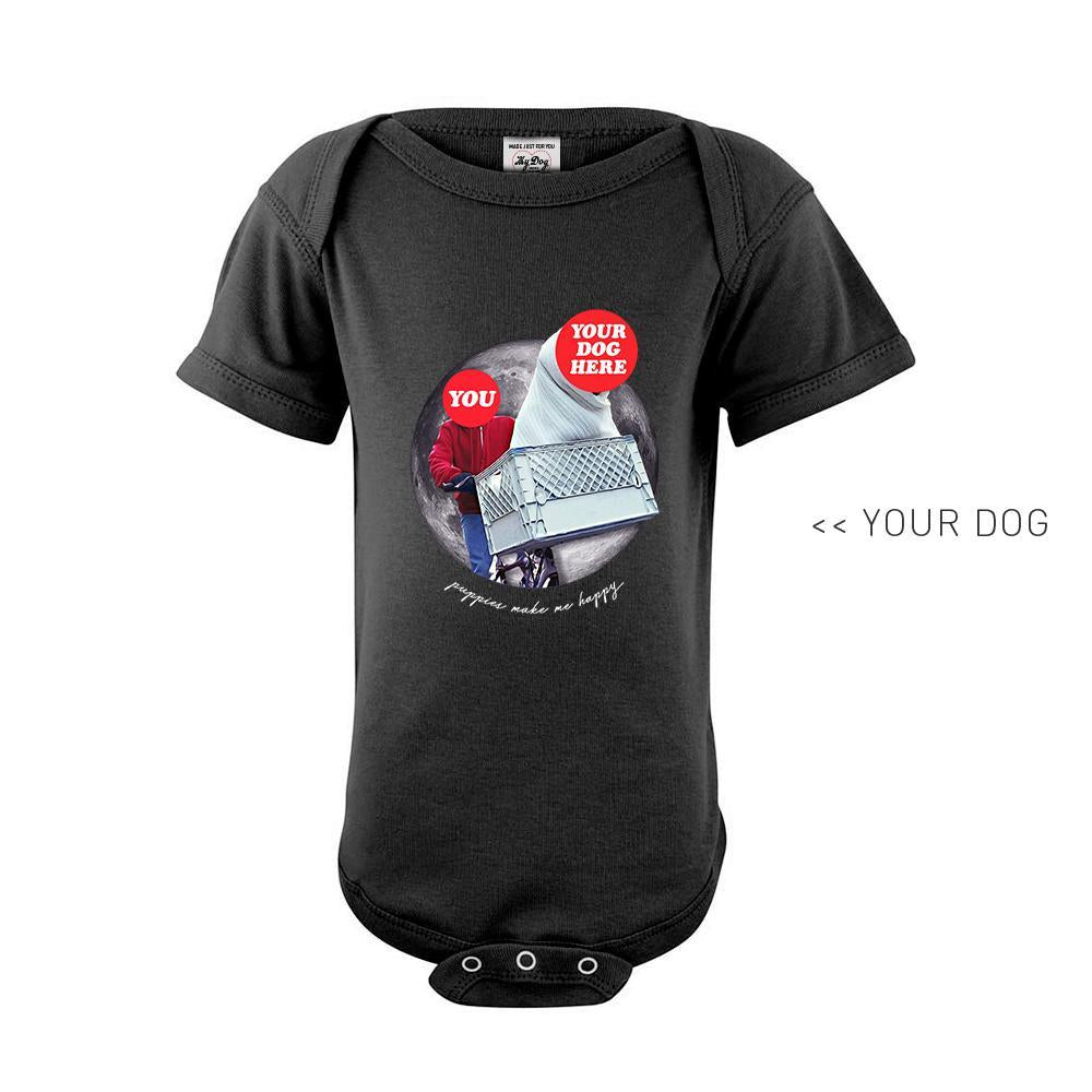 Your Dog Here - Phone Home - Kid Onesie - Puppies Make Me Happy
