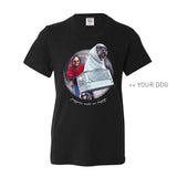 Your Dog Here - Phone Home - Kids Tee - Puppies Make Me Happy