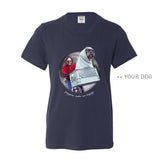 Your Dog Here - Phone Home - Youth Tee - Puppies Make Me Happy