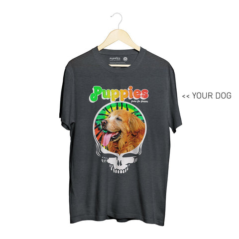 Your Dog Here - Puppies & Hippies | Heavyweight Uni-Sex Tee