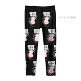 Your Dog Here - Bride Tribe - Youth Leggings - Puppies Make Me Happy