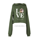 Your Dog Here - True Puppy Love - Crop Top Hoodie