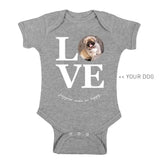 Your Dog Here - True Puppy Love - Kid Onesie - Puppies Make Me Happy