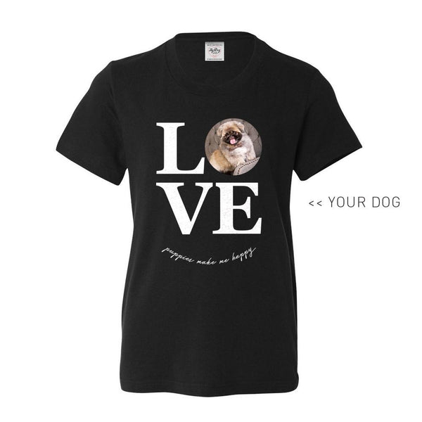 Your Dog Here - True Puppy Love - Youth Tee - Puppies Make Me Happy