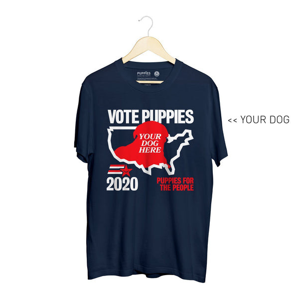Your Dog Here - Puppies 2020 | Soft Cotton Uni-Sex  Tee - Puppies Make Me Happy