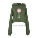 Your Dog Here - My Puppy, Wine and I'm Fine - Crop Top Hoodie