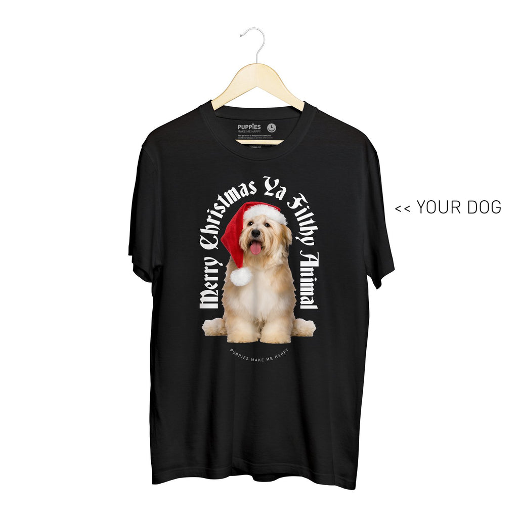 Your Dog Here - My Christmas Miracle | Soft Cotton Uni-Sex  Tee - Puppies Make Me Happy