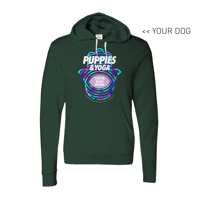 Your Dog Here - Your Dog and Yoga - Hoodie - Puppies Make Me Happy