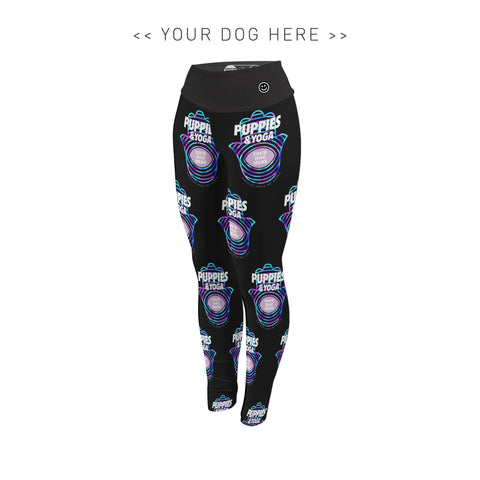 Your Dog Here - Your Dog and Yoga - Adult Leggings