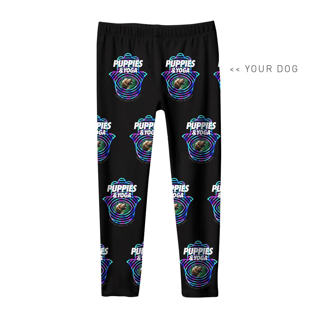 Your Dog Here - Your Dog and Yoga - Kids Leggings