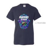 Your Dog Here - Your Dog and Yoga - Youth Tee - Puppies Make Me Happy