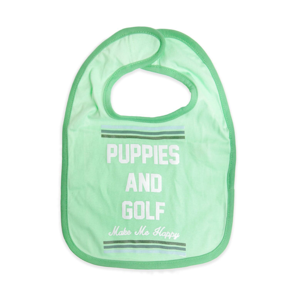 Puppies and Golf | Baby Bib - Puppies Make Me Happy