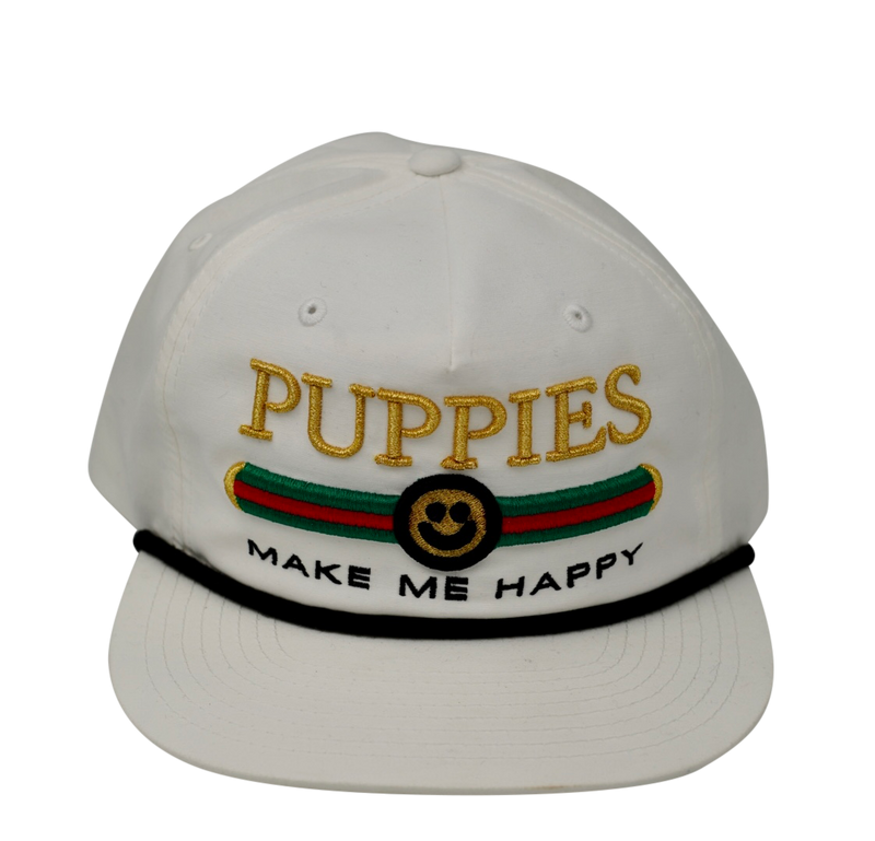 Pup Lux - Rope Snapback - Puppies Make Me Happy
