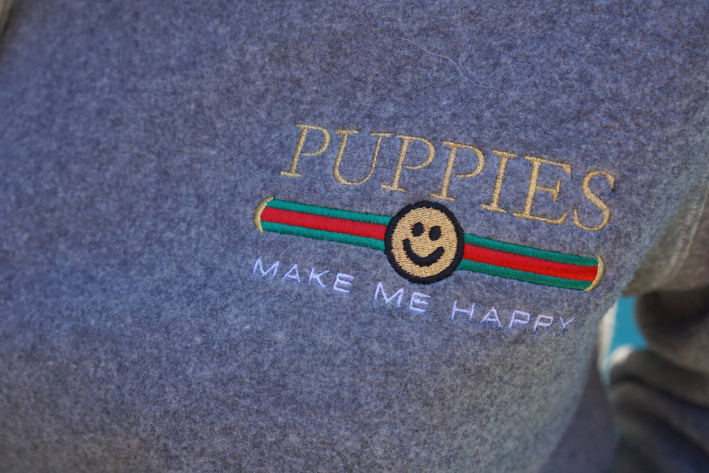 Pup Lux Embroidered | Teddy Bear Uni-Sex Crewneck Sweatshirt