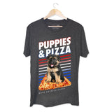 Puppies & Pizza | Soft Cotton Uni-Sex  Tee - Puppies Make Me Happy