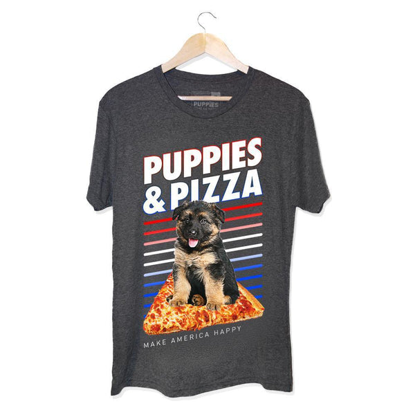 Shepherd's Pie | Uni-Sex Crewneck Tee - Puppies Make Me Happy