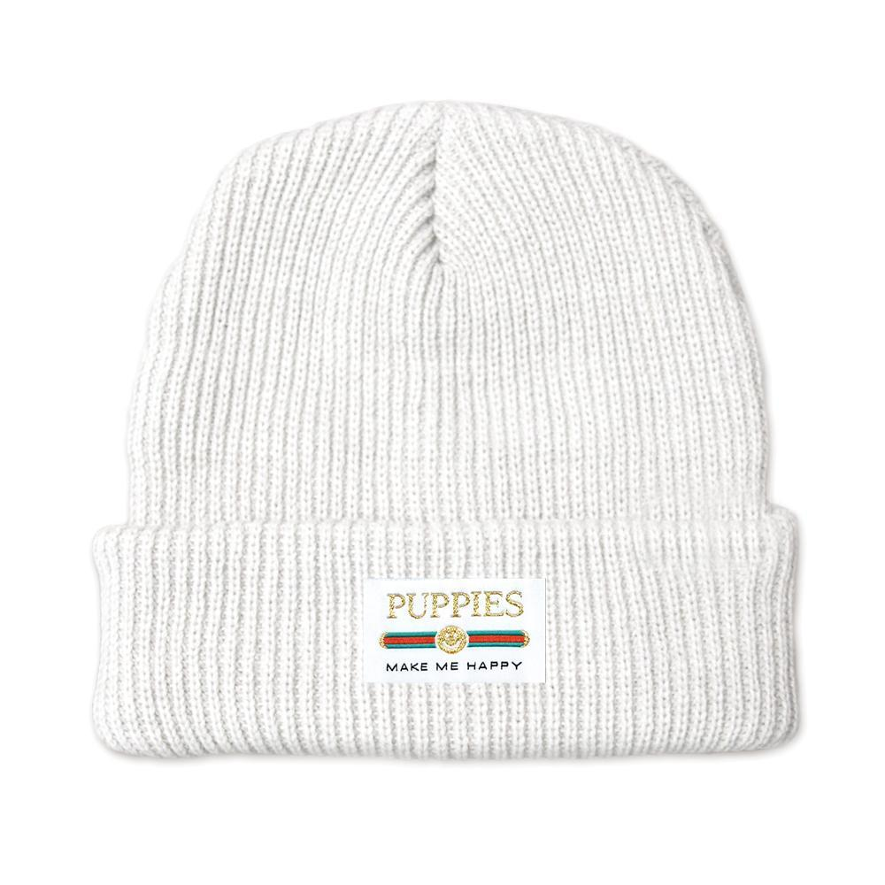 Pup Lux | Gold Label Beanie - Puppies Make Me Happy