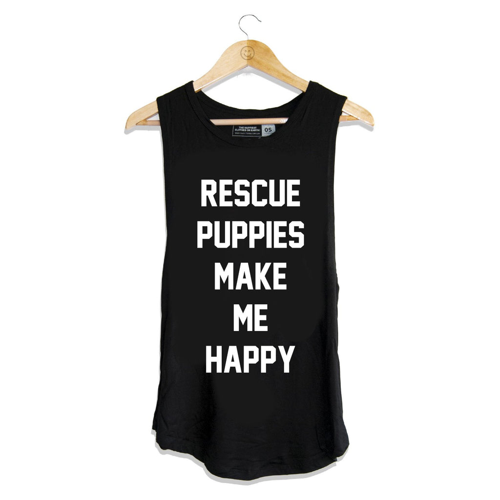 Rescue Puppies - Women's Sleeveless - Puppies Make Me Happy