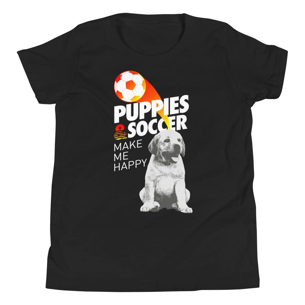 Soccer Puppies | Youth Tee - Puppies Make Me Happy