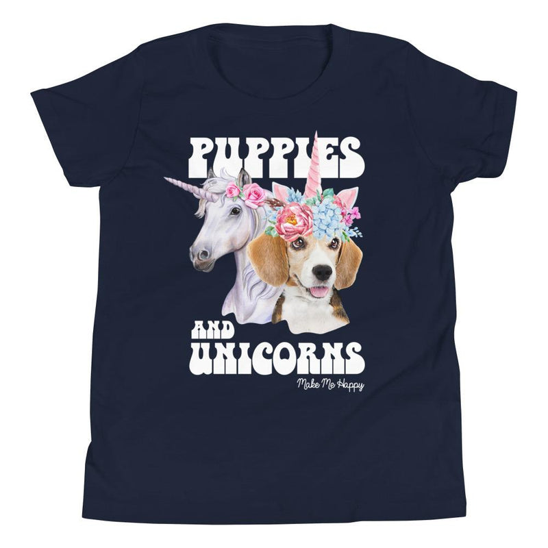Unicorn Friends | Youth Tee - Puppies Make Me Happy