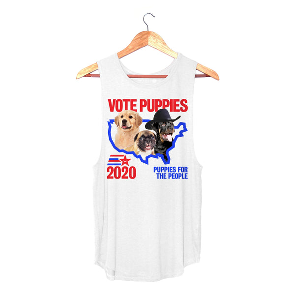 Vote Puppies 2020 | Sleeveless - Puppies Make Me Happy
