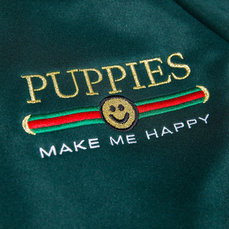 Pup Lux | Uni-Sex | Tracksuit Green - Puppies Make Me Happy