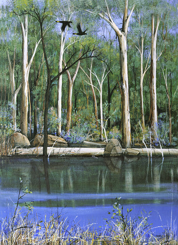 "....""Along the Blackwood River"".... - Windram Art"