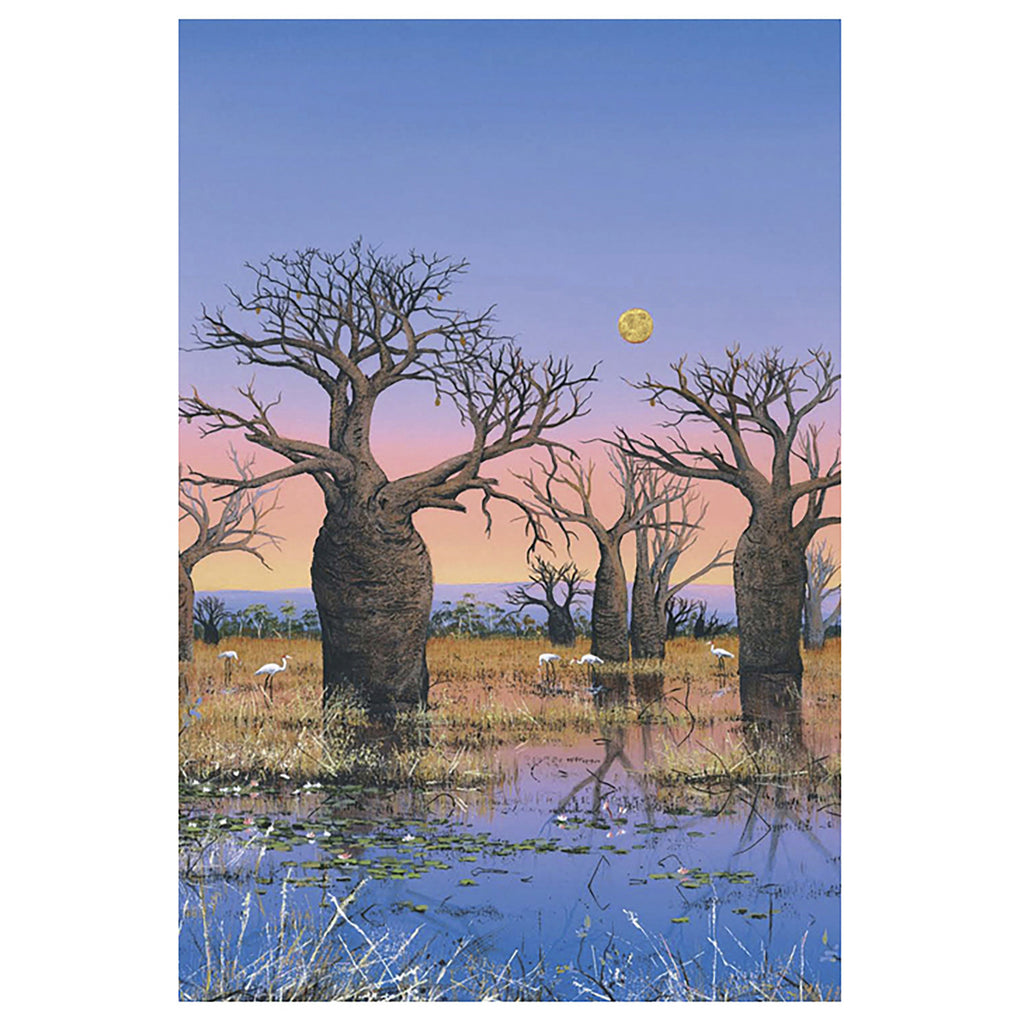 ". ""Brolgas and the Kimberley Moon II"" . - Windram Art"