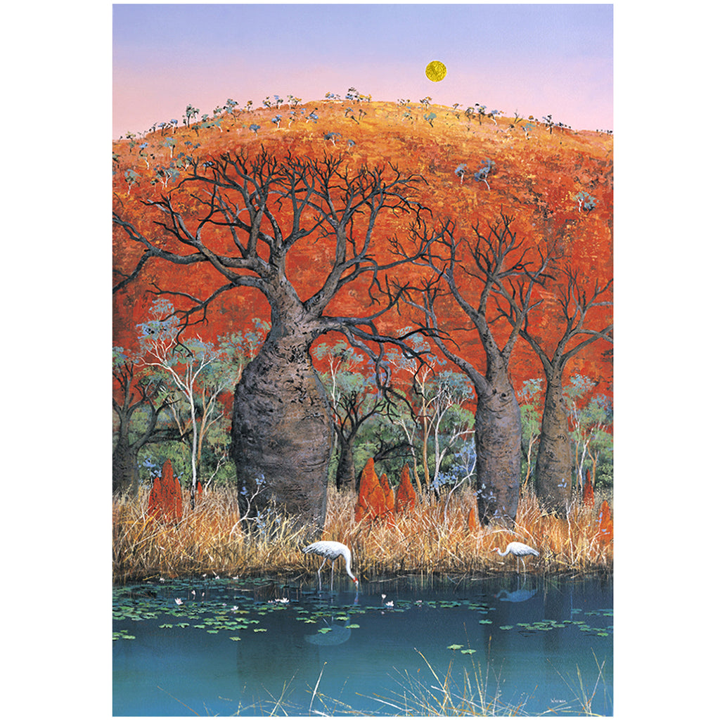 "..""Brolga Moon"".. - Windram Art"