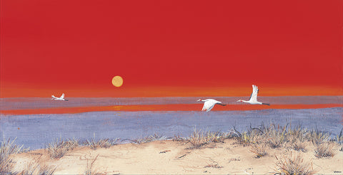 """Brolga Sunset"" - Windram Art"