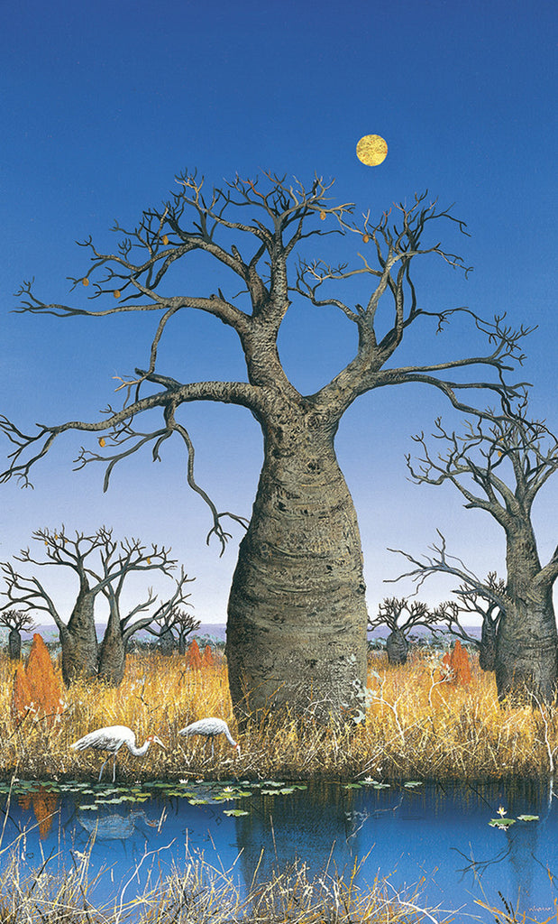 """Brolgas and the Boab Trees"" - Windram Art"
