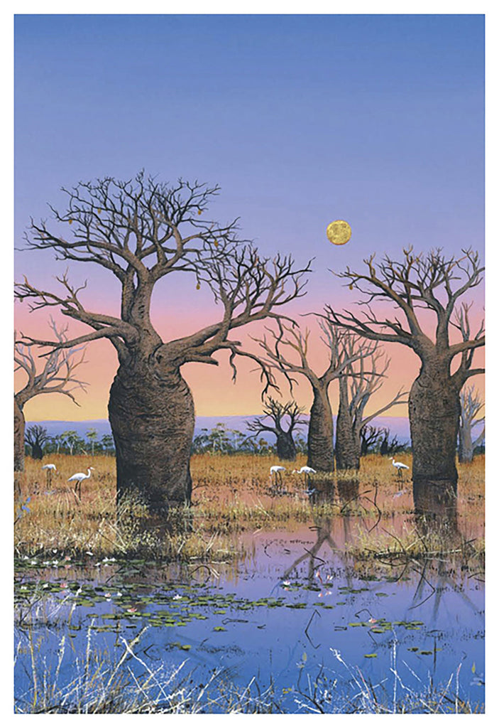 """Brolgas and The Kimberley Moon II"" - Windram Art"