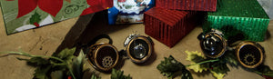 Christmas packages and steampunk goggles
