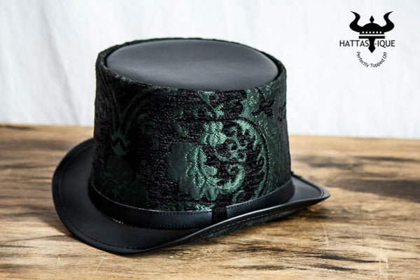 Alter Green Leather Top Hat