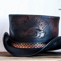 Balance Leather Top Hat Front View