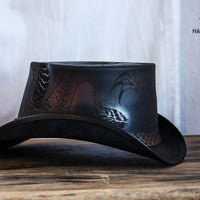 Balance Leather Top Hat Side View