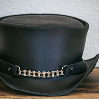 American Hat maker chain hatband on marlow top hat
