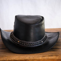 black braided cowboy hat