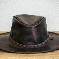 dark brown bravo western hat
