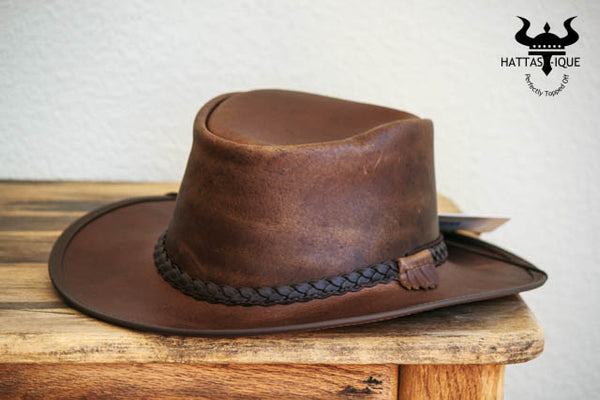 mocha brown bravo western hat